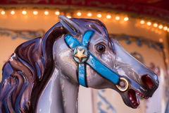 Primer del caballo del carrusel Imagenes de archivo