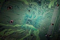 Primer del circuito de ordenador. Fotografía de archivo