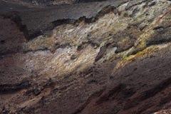 Primer del cráter del volcán Foto de archivo libre de regalías