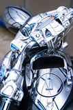 Primer del cromo de la motocicleta Fotografía de archivo libre de regalías