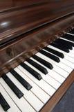 Primer del cuadro diagonal de un piano Fotos de archivo