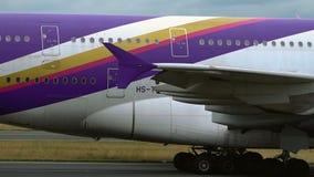 Primer del cuerpo de Airbus A380 almacen de metraje de vídeo