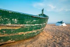Primer del detalle del barco de pesca Imagenes de archivo