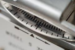 Primer del dial de medición del metro eléctrico fotos de archivo libres de regalías