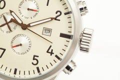 Primer del dial de reloj Fotos de archivo libres de regalías