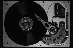 Primer del disco duro foto de archivo libre de regalías