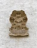 Primer del escudo de armas en la fortaleza Hohensalzburg Salzburg, Austria Imagen de archivo