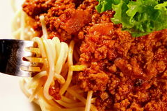 Primer del espagueti Fotografía de archivo
