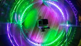 Primer del estudio del punto de iluminación del color de la cámara digital de la acción Imágenes de archivo libres de regalías