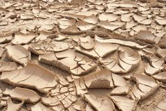 Primer del fondo agrietado seco de la tierra, desierto de la arcilla Imagen de archivo