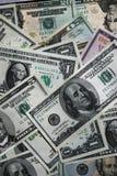 Primer del fondo de las cuentas de dólar foto de archivo libre de regalías