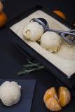 Primer del helado de la mandarina Imagen de archivo libre de regalías