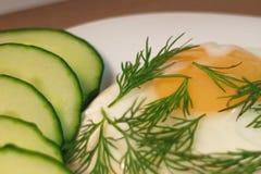 Primer del huevo frito Foto de archivo libre de regalías