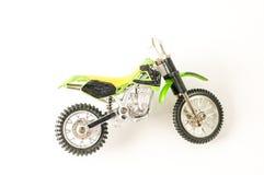 Primer del juguete cruzado de la motocicleta de la moto Fotografía de archivo libre de regalías