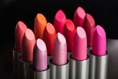 Primer del lápiz labial colorido Fotografía de archivo libre de regalías