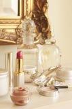 Primer del lápiz labial y de los cosméticos Imagen de archivo libre de regalías