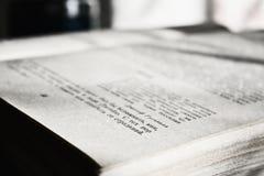 Primer del libro abierto Fotografía de archivo libre de regalías