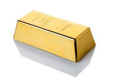 Primer del lingote de oro foto de archivo libre de regalías