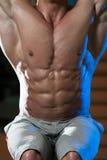 Primer del músculo abdominal Imagen de archivo libre de regalías