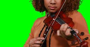 Primer del músico de sexo femenino que toca el violín metrajes