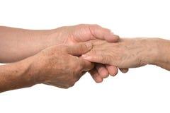 Primer del masaje de la mano Foto de archivo