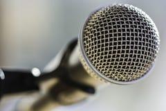 Primer del micrófono Fotografía de archivo libre de regalías