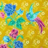 Primer del modelo retro de la tela de la tapicería Foto de archivo libre de regalías