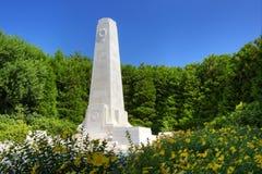 Primer del monumento del battelefield de Nueva Zelanda Imagen de archivo libre de regalías