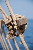Primer del nudo del marinero imagenes de archivo