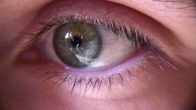 Primer del ojo almacen de metraje de vídeo