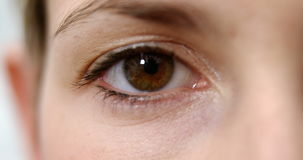 Primer del ojo de la mujer almacen de video