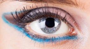 Primer del ojo de la mujer Foto de archivo libre de regalías