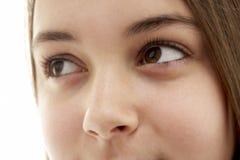 Primer del ojo del adolescente Imágenes de archivo libres de regalías