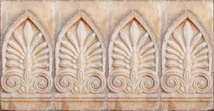 Primer del ornamento arquitectónico Foto de archivo libre de regalías