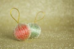 Primer del ornamento de la Navidad Fotografía de archivo