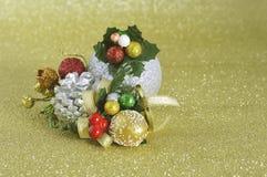 Primer del ornamento de la Navidad Imagen de archivo libre de regalías