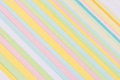 Primer del papel multicolor de la tarjeta Fotos de archivo