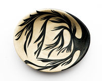 Primer del plato oval de cerámica israelí. Imagenes de archivo