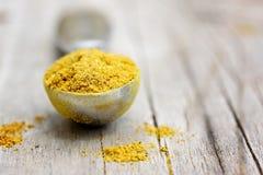 Primer del polvo de curry Imagenes de archivo