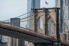 Primer del puente de Brooklyn Fotos de archivo