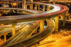 Primer del puente del acercamiento del nanpu de Shangai fotos de archivo