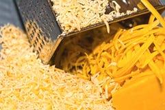 Primer del queso rallado Imagen de archivo