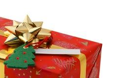 Primer del regalo de la Navidad Imagen de archivo libre de regalías