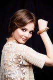 Primer del retrato de la mujer joven de la belleza Girl Face modelo hermoso Imagen de archivo