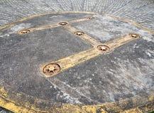 Primer del símbolo del helipuerto Foto de archivo libre de regalías