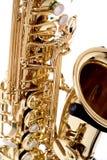 Primer del saxofón fotos de archivo