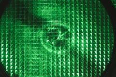 Primer del semáforo verde Imagen de archivo