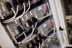 Primer del servidor montado estante Fotografía de archivo