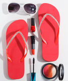 Primer del sistema del maquillaje del verano Fotografía de archivo libre de regalías