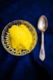 Primer del sorbete del mango Foto de archivo